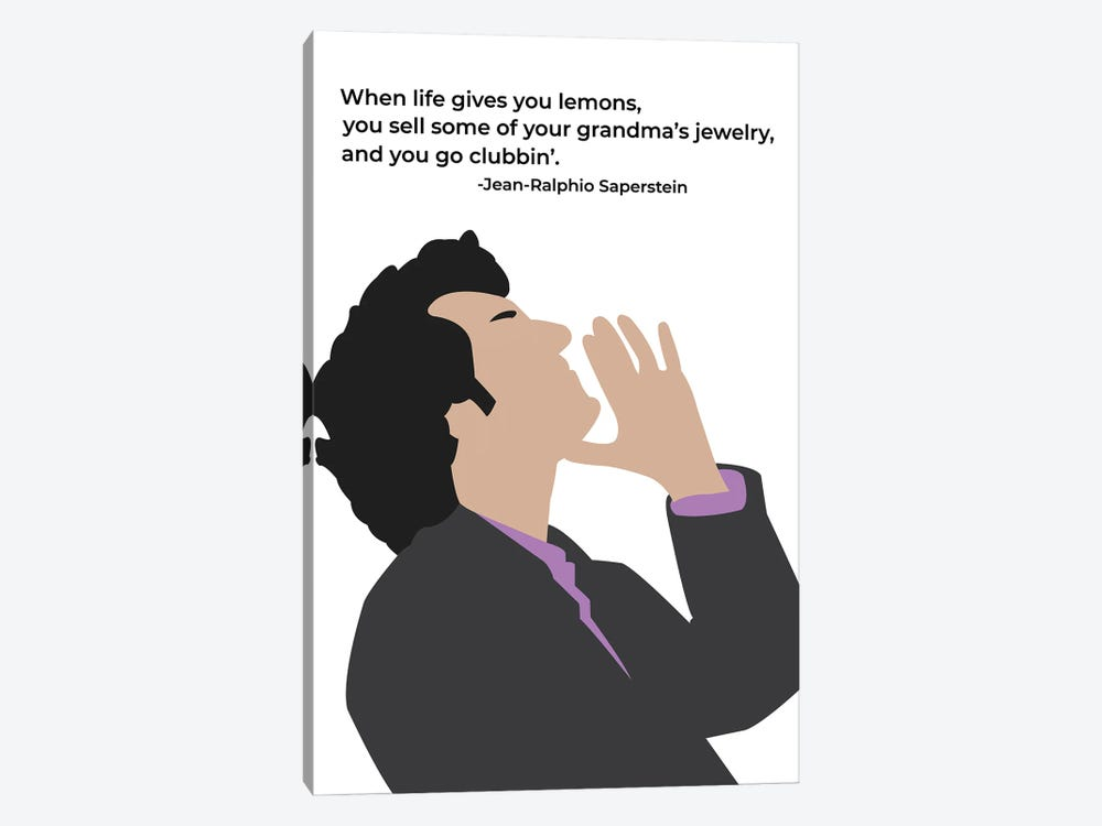 When Life Gives You Lemons - Parks And Rec by Very Nice Words 1-piece Canvas Artwork