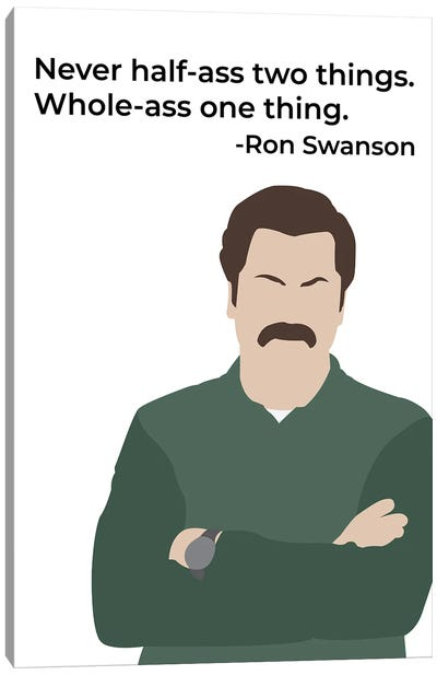 Whole Ass One Thing - Parks And Rec Canvas Art Print
