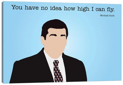 How High I Can Fly - The Office Canvas Art Print