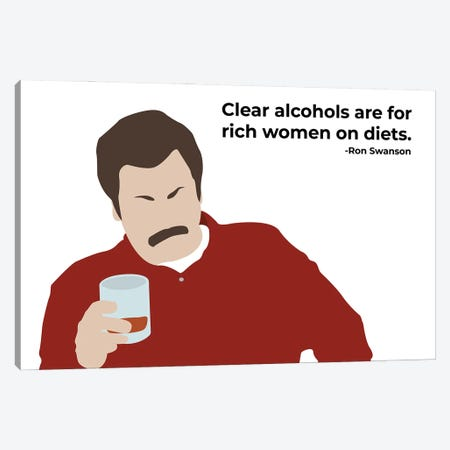 Clear Alcohols - Parks And Rec Canvas Print #VYW6} by Very Nice Words Canvas Artwork