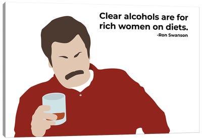 Clear Alcohols - Parks And Rec Canvas Art Print