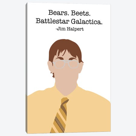 Bears, Beets, Battlestar Galactica - The Office Canvas Print #VYW9} by Very Nice Words Canvas Print