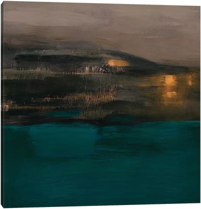 Night. Sea. Speed. Canvas Art Print