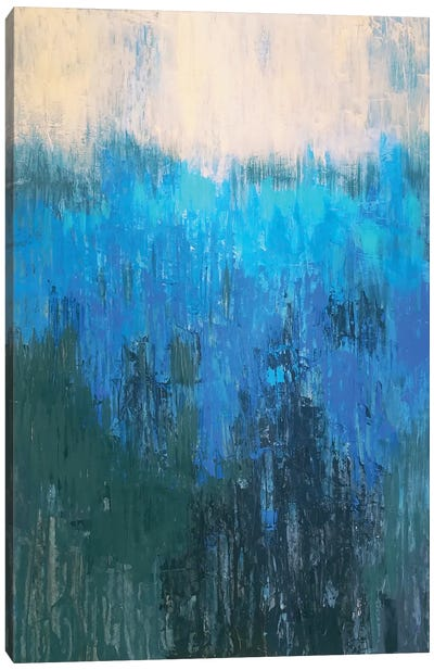 Blue Distance Canvas Art Print