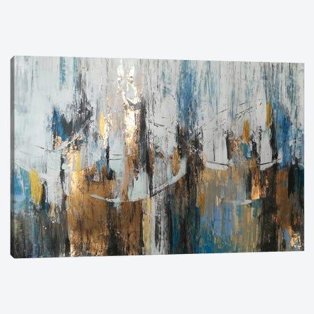 Blue Gold Abstraction Canvas Print #VZH2} by Vera Zhukova Canvas Art