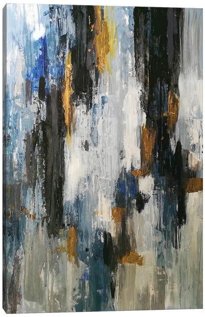 Gray Abstraction Canvas Art Print