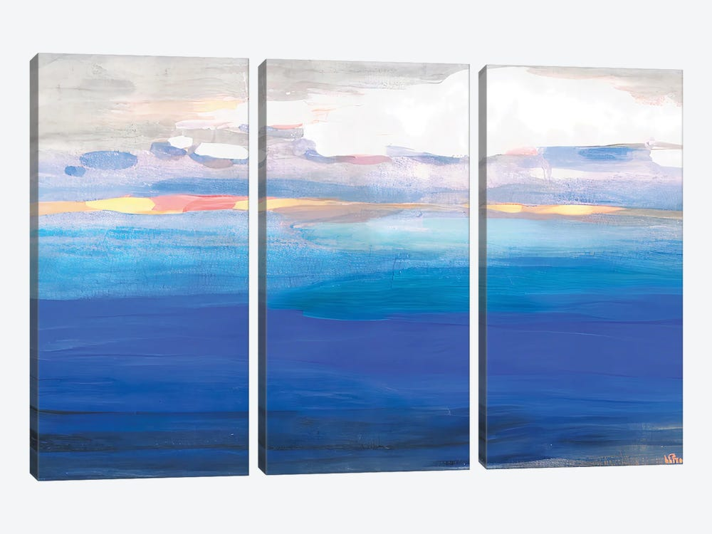 Over The Expanses Of The Lake by Vera Zhukova 3-piece Canvas Art