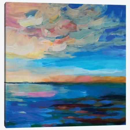 Peach Clouds Canvas Print #VZH69} by Vera Zhukova Canvas Wall Art