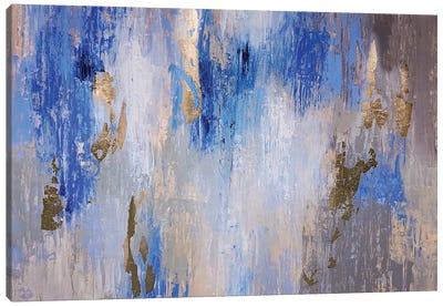 Blue Gray Art Canvas Art Print