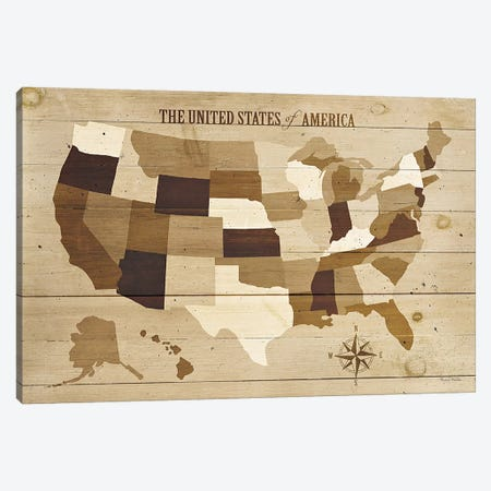 USA Modern Vintage Wood  Canvas Print #WAC1000} by Michael Mullan Canvas Art Print
