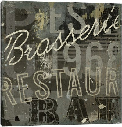 Restaurant Sign I  Canvas Print #WAC1009