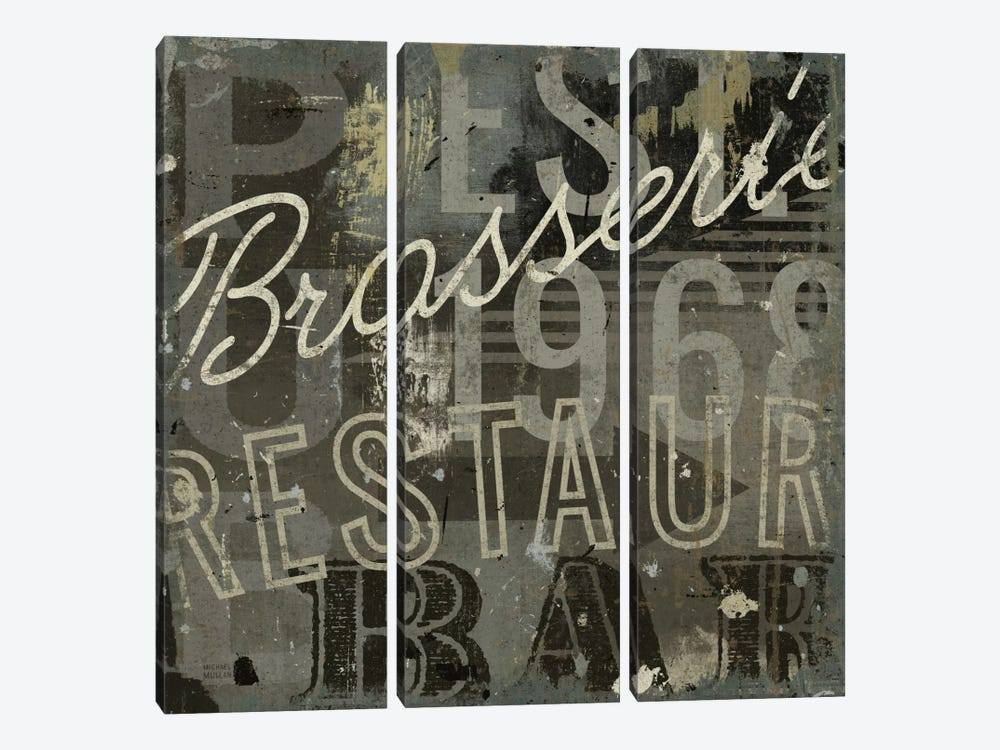 Restaurant Sign I by Michael Mullan 3-piece Art Print