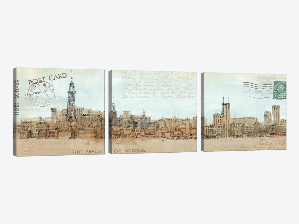 Cities III - New York by Avery Tillmon 3-piece Art Print