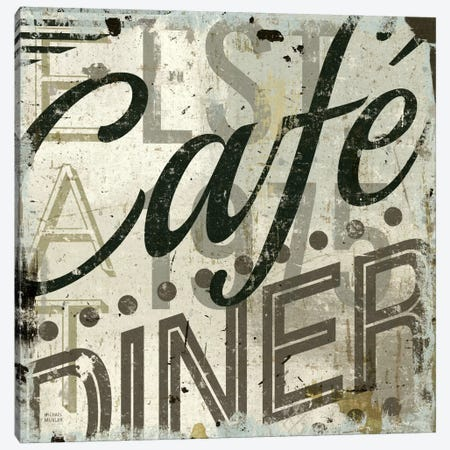 Restaurant Sign II  Canvas Print #WAC1010} by Michael Mullan Canvas Artwork