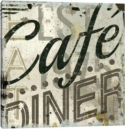 Restaurant Sign II  Canvas Art Print