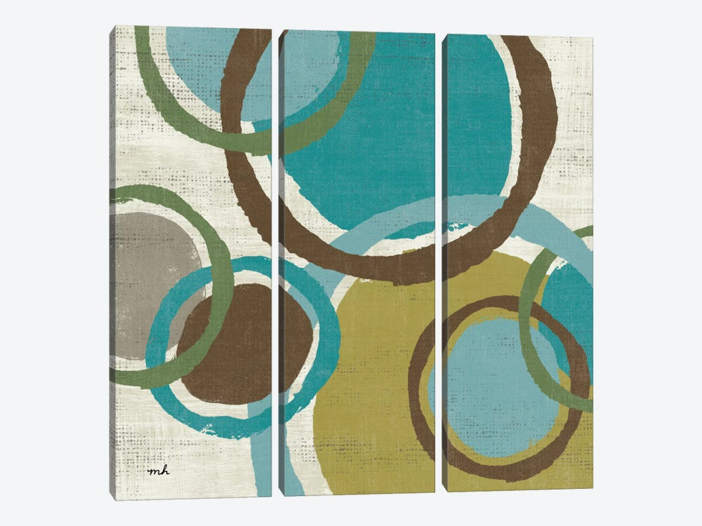 Vintage Bubbles I by Moira Hershey 3-piece Canvas Wall Art