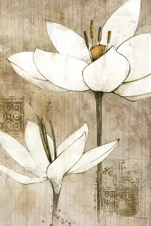 Pencil Floral I Canvas Wall Art By Avery Tillmon Icanvas