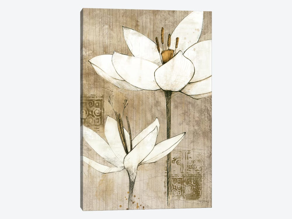 Pencil Floral I  by Avery Tillmon 1-piece Canvas Artwork