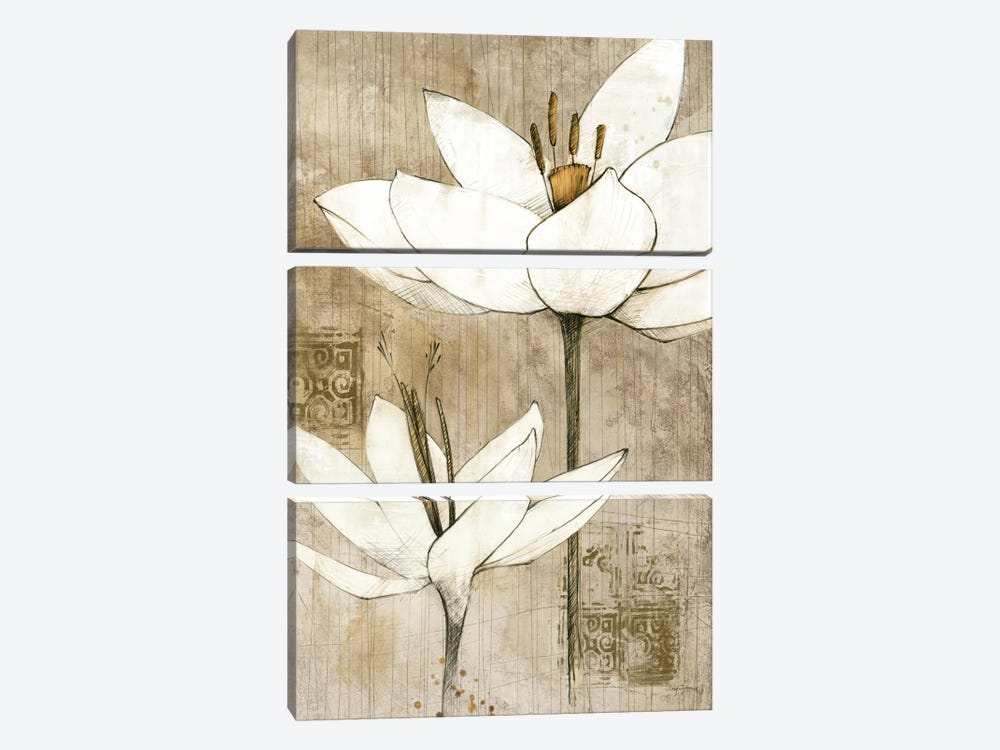 Pencil Floral I  by Avery Tillmon 3-piece Canvas Art
