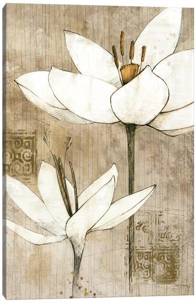 Pencil Floral I  Canvas Art Print
