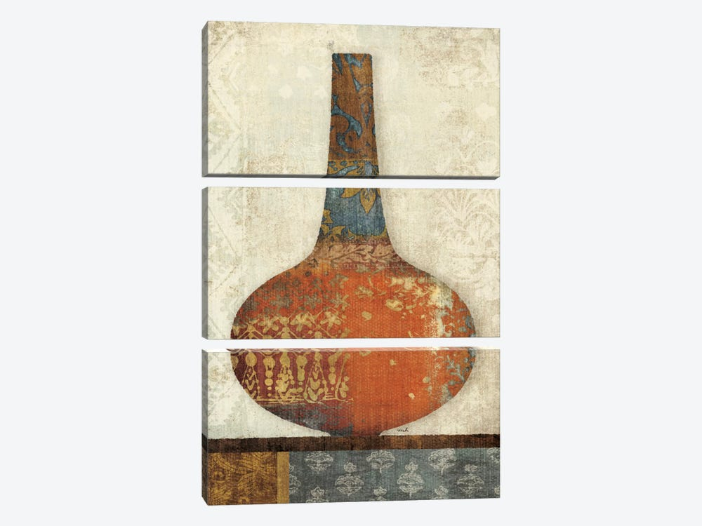 Indian Vessels I by Moira Hershey 3-piece Canvas Art Print