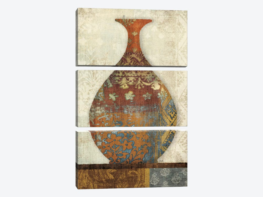 Indian Vessels II by Moira Hershey 3-piece Canvas Wall Art