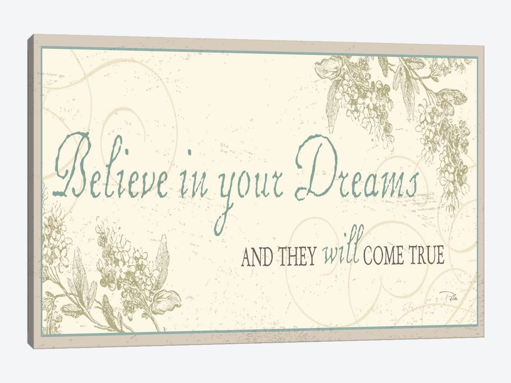 Believe in your dreams by Pela Studio 1-piece Canvas Art
