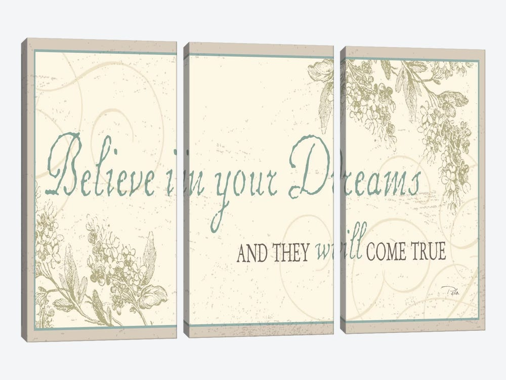Believe in your dreams 3-piece Canvas Artwork