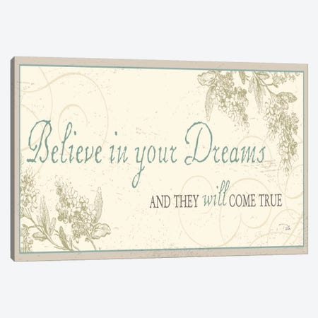 Believe in your dreams Canvas Print #WAC1026} by Pela Studio Canvas Art