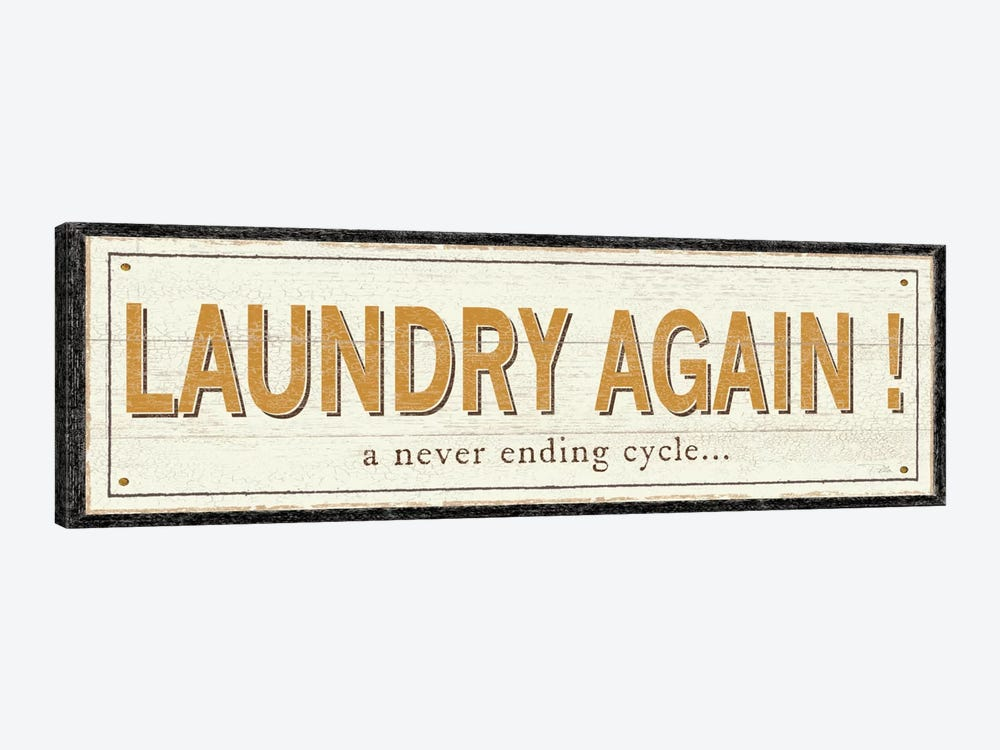 Laundry Again! by Pela Studio 1-piece Canvas Art Print