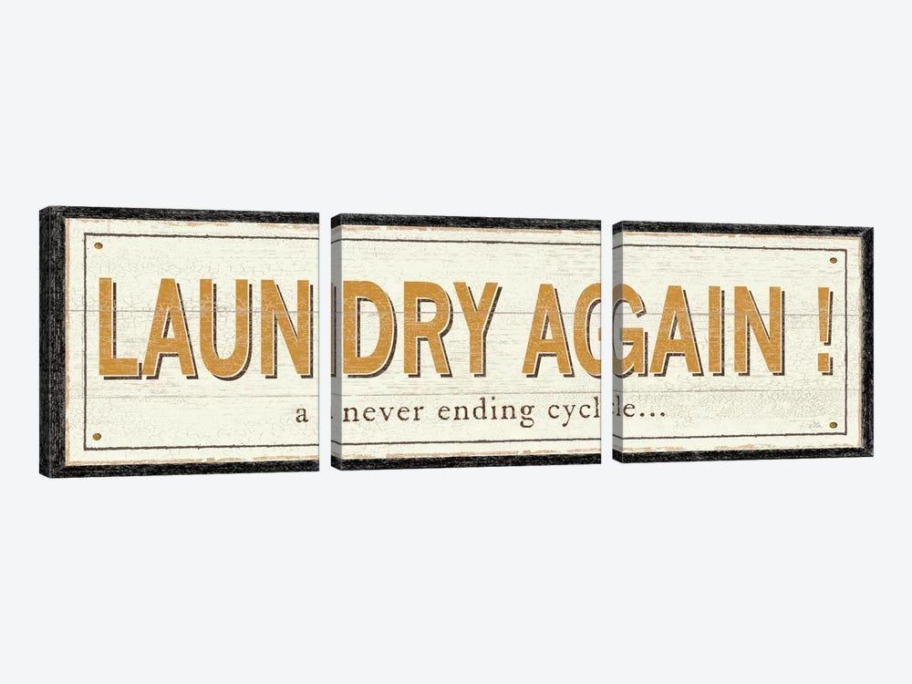 Laundry Again! by Pela Studio 3-piece Canvas Print