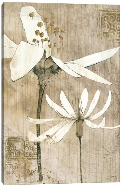 Pencil Floral II  Canvas Art Print