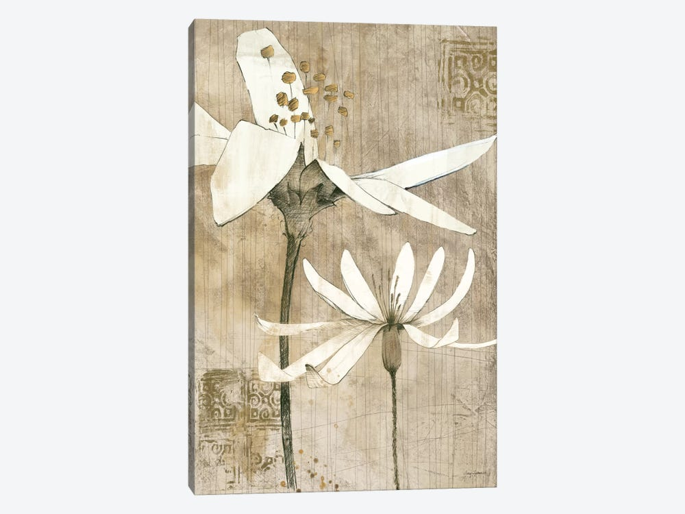 Pencil Floral II  1-piece Canvas Art Print