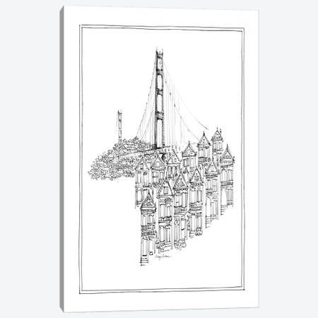 Golden Gate Canvas Print #WAC105} by Avery Tillmon Canvas Artwork
