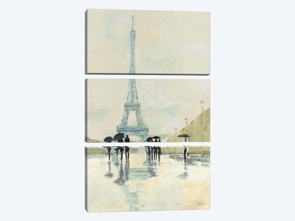 April in Paris by Avery Tillmon 3-piece Canvas Art