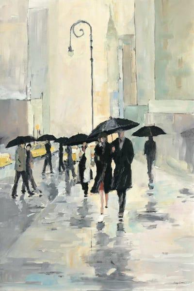 City in the Rain Canvas Wall Art by Avery Tillmon | iCanvas