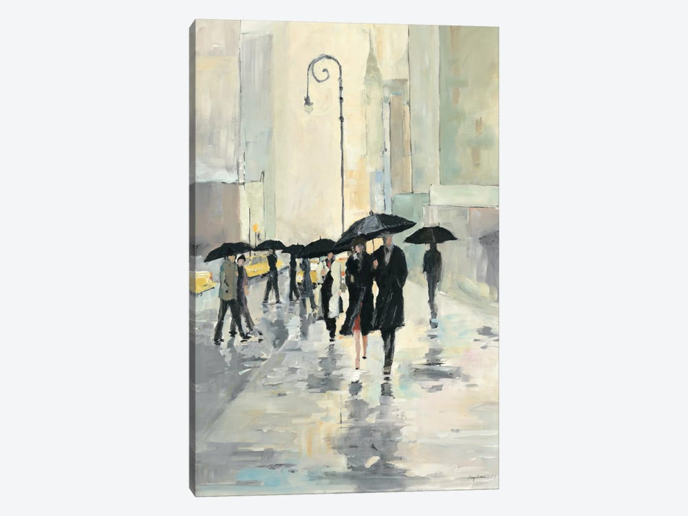 City in the Rain by Avery Tillmon 1-piece Art Print