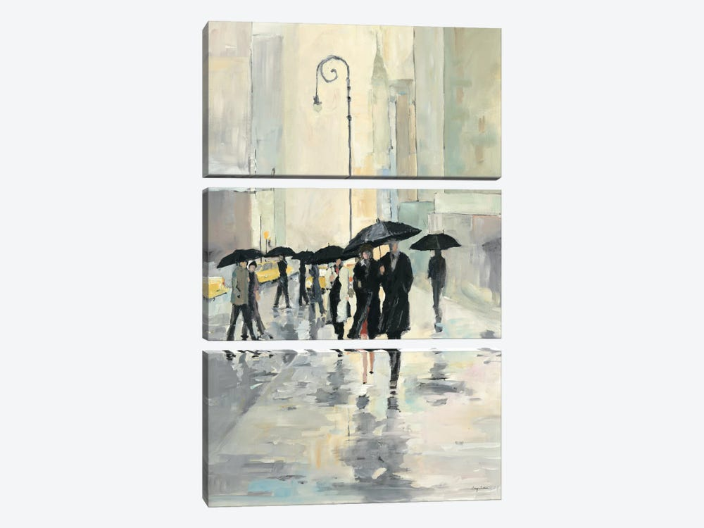 City in the Rain by Avery Tillmon 3-piece Canvas Art Print