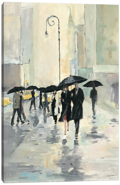 City in the Rain Canvas Art Print