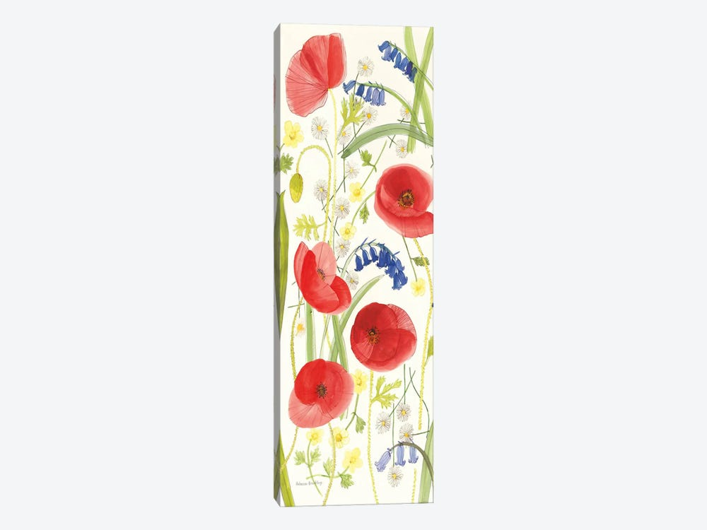 Meadow Poppies II by Rebecca Bradley 1-piece Canvas Art Print