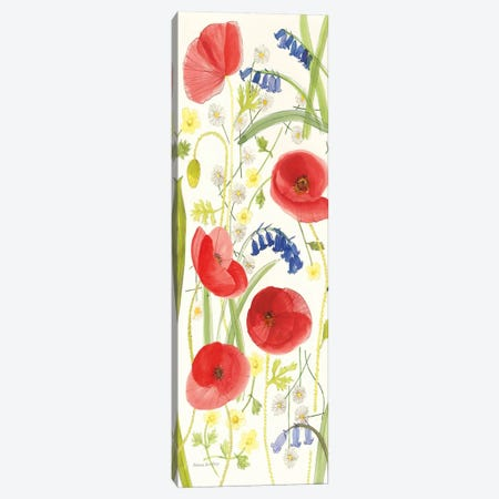 Meadow Poppies II Canvas Print #WAC1111} by Rebecca Bradley Art Print