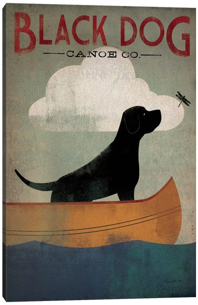 Black Dog Canoe Co. I Canvas Art Print
