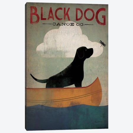 Black Dog Canoe Co. I Canvas Print #WAC1113} by Ryan Fowler Canvas Print