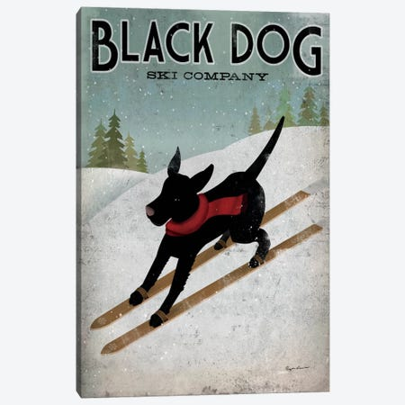 Black Dog Ski Co. I Canvas Print #WAC1114} by Ryan Fowler Canvas Artwork