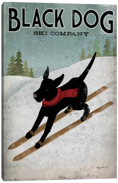 Black Dog Ski Co. I Canvas Art Print