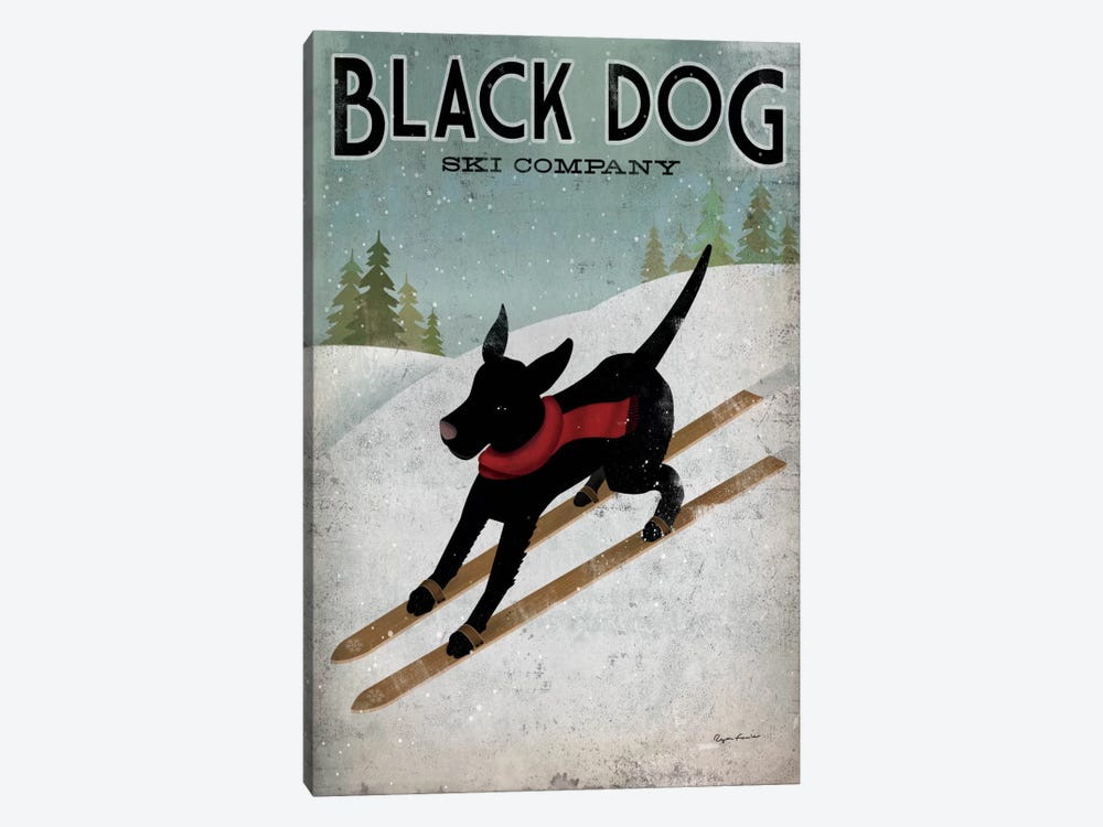 Black Dog Ski Co. I 1-piece Canvas Wall Art