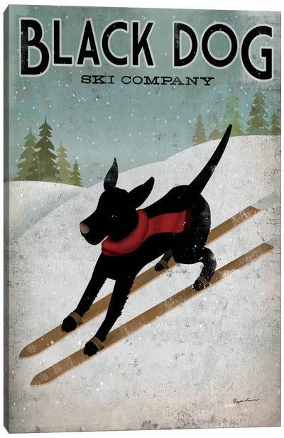 Black Dog Ski Co. I Canvas Art Print