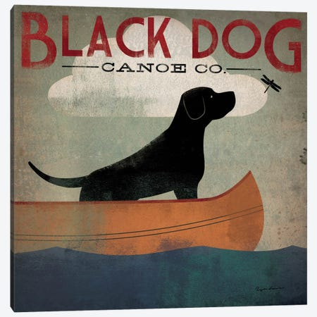 Black Dog Canoe Co. II Canvas Print #WAC1115} by Ryan Fowler Canvas Wall Art