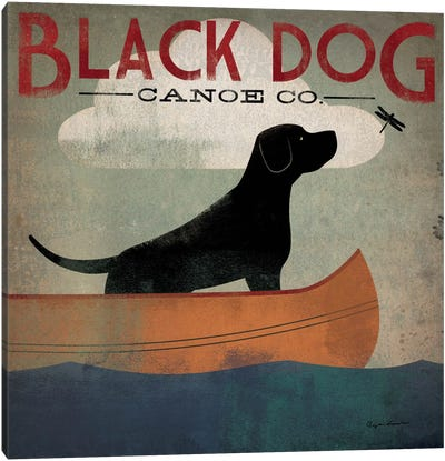 Black Dog Canoe Co. II Canvas Art Print