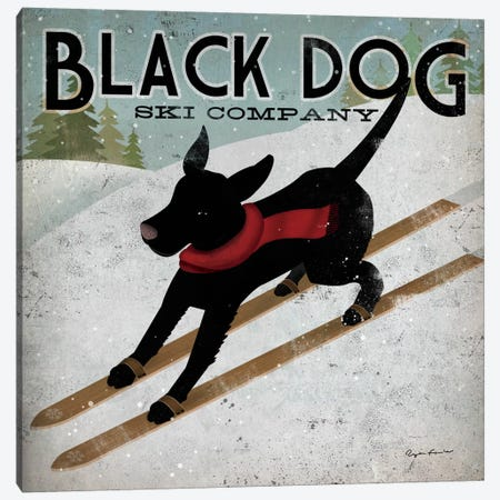 Black Dog Ski Co. II Canvas Print #WAC1116} by Ryan Fowler Canvas Art